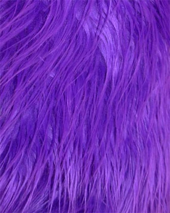 Purple Shaggy Mongolian Faux Fur By Everafterfabrics On Etsy