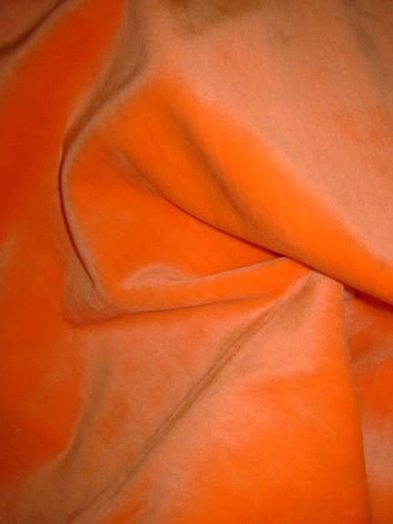 Neon Orange Short Pile Faux Fur