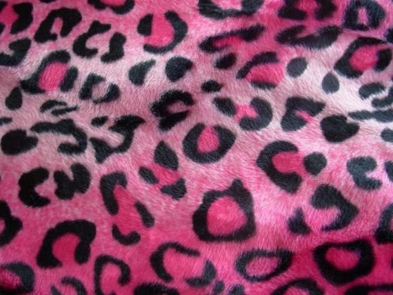 Pink Leopard Animal Print FAT QUARTER