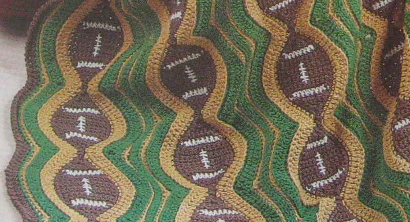 Football Afghan Crochet Pattern and Apple Afghan by ...