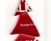 Coca Cola Christmas Tree Ornament- Recycled Can