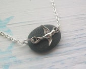 BUY 2 GET 1 FREE ... Scottish Beach Stone Jewelry - Beach Stone and Silver Bird Necklace ..... Fly Away  (1260)