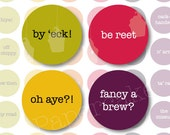 One Inch Circles Yorkshire Sayings for Scrapbooking, Collage, Bottlecaps (517)