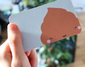 Kawaii Poo Notelets Notecards (905)