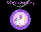 Unicorn Purple Pendant Necklace