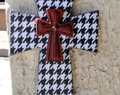 Houndstooth Wooden Cross