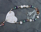 White Witch in Narnia - Porcelain, Crystals, and Lots of Sparkle Necklace Handmade
