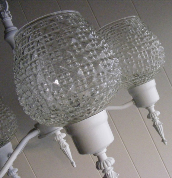 Items similar to vintage light fixture shabby chic on etsy - Shabby chic lighting fixtures ...