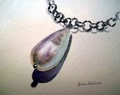 Pearl Necklace Original Painting - Pearl - Watercolor Painting - 8 x 10 inches