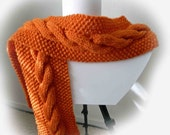 Scarf Cabled Classic Long Best Christmas Gift or Halloween Gift