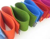 2 Coffee Cup Sleeves. pure wool felt. cup holder. cup sleeve. cup cozy. eco-friendly. blue. green, red. orange. magenta. gray. mlmxoxo