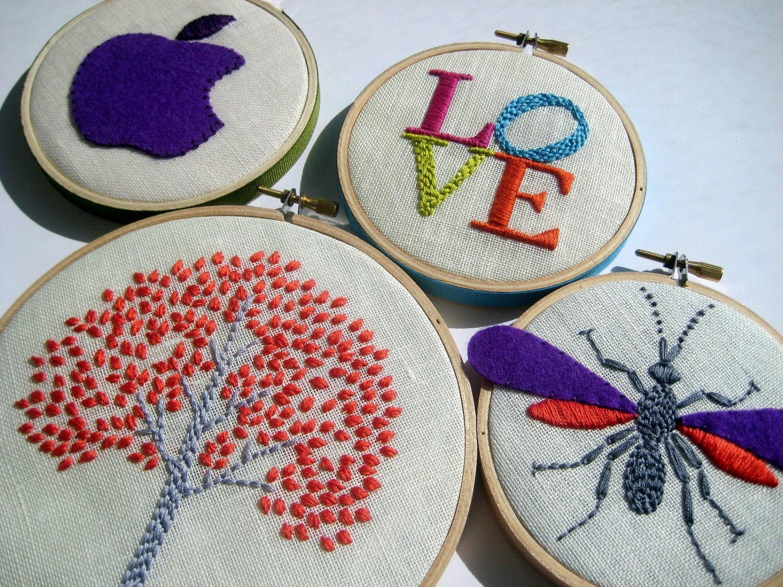 Hand embroidery art makaroka
