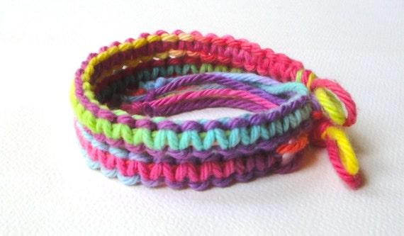 items similar to summer tie dye bracelets two friendship bracelets on etsy. Black Bedroom Furniture Sets. Home Design Ideas