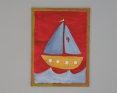 Sail Boat on Canvas (24 inches x 18 inches)
