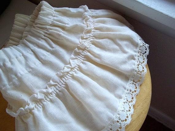 Upcycled Mini Skirt Cream Lace