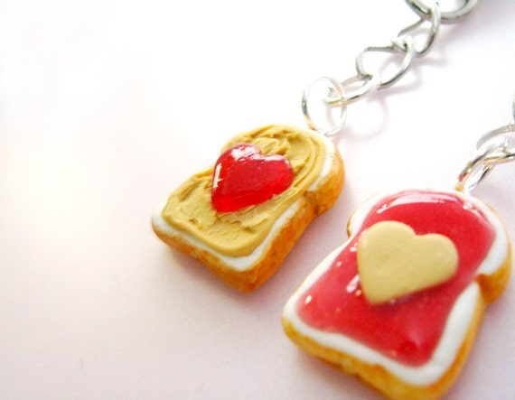 Peanut Butter and Jelly Best Friends Key Chains BFF - Kawaii Cute ...