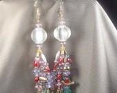 Beaded tassel earrings colorful price