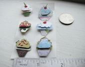 Handmade Cupcake Stickers Popup Colorful Mini Cupcake Bakery Stickers