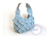 crafts for children-blue-handbag-girl-DIY KIT put&pull