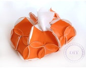 Home DIY Orange Tissue Holder creation set put&pull - PutAndPull