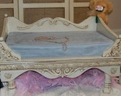 REDUCED Photography Prop Daybed, Photo Prop Medium Size comes with 2 mattresses Blue and Cream Mattresses