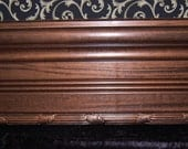 Coupon Code Summer2012 15 Percent Off  Photo Prop Baseboard Free Standing 4 foot by 7 inches Gold Leaf Pecan