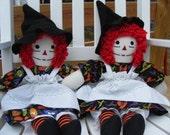 Handmade Cloth Witch Doll