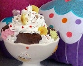 Fake Ice Cream Sundae Faux Sundae Banana Split Ice Cream Sundae Centerpiece