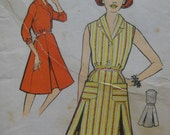 """SALE Vintage UNUSED 1950's/60's So-Easy Sewing/Dressmaking Pattern. Shirtwaister Dress. Bust 36"""". Factory Fold."""
