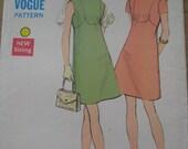 SALE 1960's/70's Vintage Dress Sewing/Dressmaking Pattern. Vogue. MOD. Twiggy style