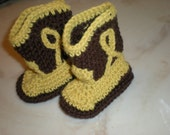 Cowboy Boots Crocheted Booties