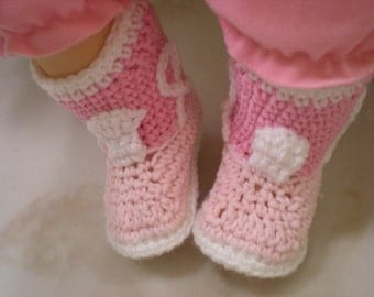 Pink Cowgirl Boots Crocheted Booties