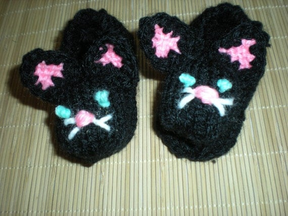 Baby Knitted Kitty Slippers