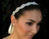 Della rhinestone headband, Rhinestone beaded bridal headband, bridal headband, crystal headband
