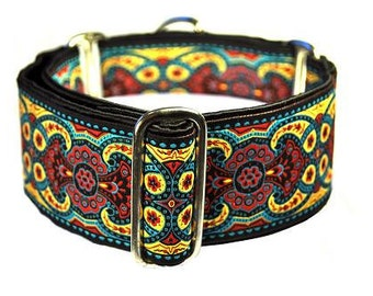 Red, Blue, and Off-White Martingale Collar - 2 Inch