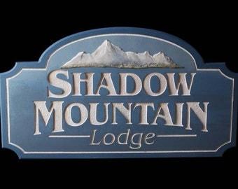 Custom personal cabin/lodge sign