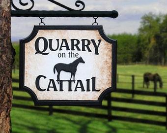 Custom Farm Sign Seasonal Address Sign Home Decor Housewares Outdoor Sign  Wall Hanging Custom Sign Name