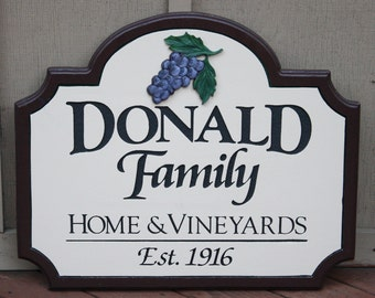 Custom Vineyard Sign