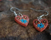 Handmade Hand Painted Dangle Earrings
