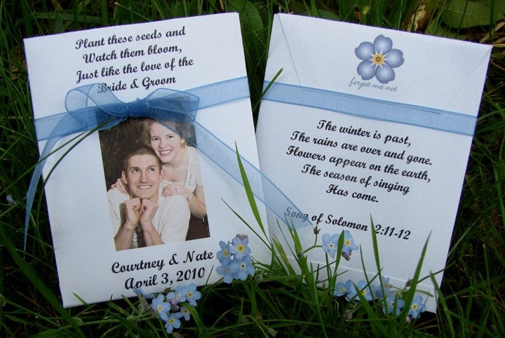 Customized Seed Packet Wedding Favors