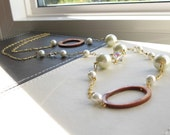 reserved - Joan - pearl and shell long necklace