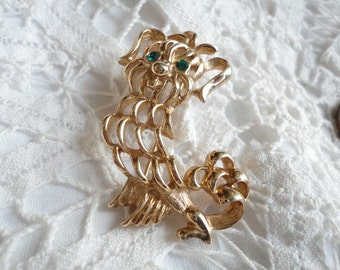 Vintage Cut Out Style Dog Brooch From Avon