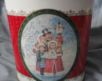 Christmas Tin Tall Oval from FTD Vintage