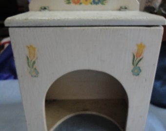 Wooden Hinged Shabby Chic Floral Container Vintage Home Decor