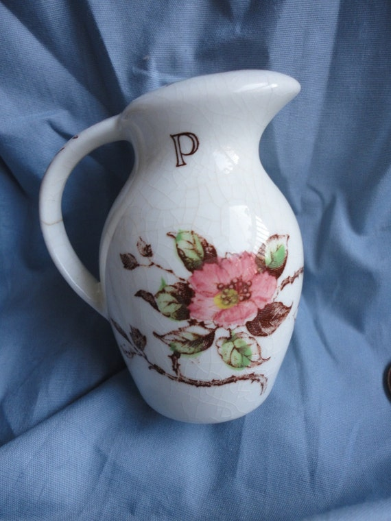 Shabby Chic Style Pitcher Style with Wild Roses Pepper Shaker