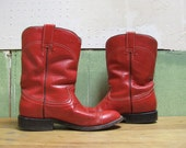 Ruby Red Cowboy Boots