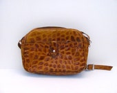 Faux Alligator Leather Bag