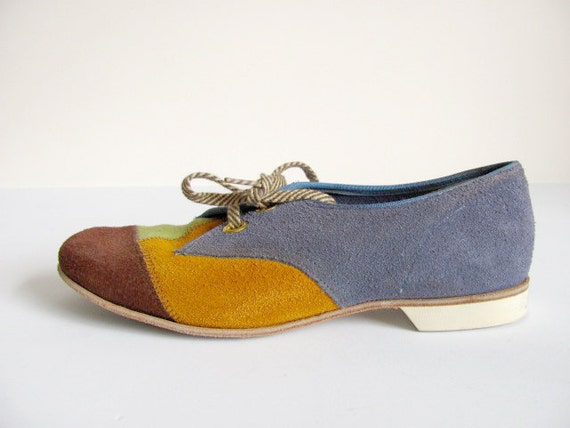 Colorful Patchwork Bowling Shoes Size 5