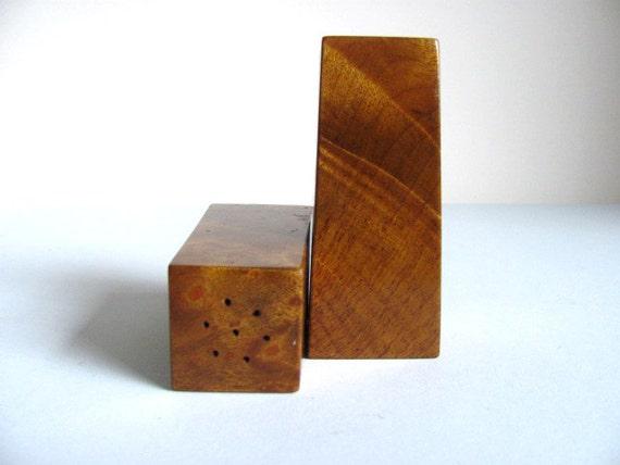 FIVE DOLLARS Wooden Modern Salt and Pepper Shakers