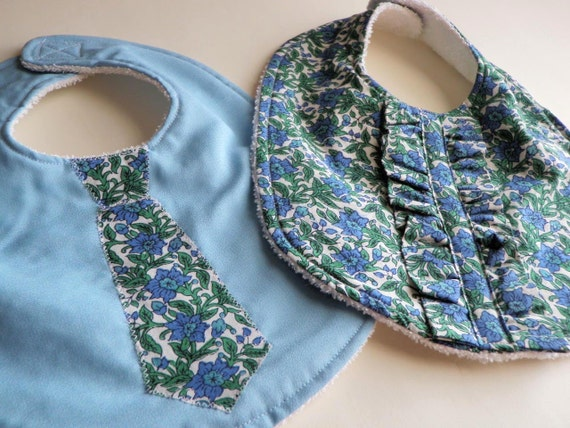 Twins Baby Bibs Set for Boy and Girl